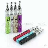 Japan Colored Drip Tank Atomizer Ecig X7 Starter Kit, Variable Voltage Ego Battery LED X6S