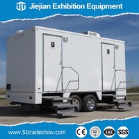 Temporary Outdoor Portable Toilets Trailer for Sale