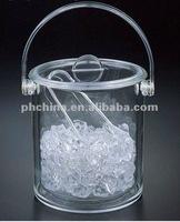 Clear Double Wall Wholesale Acrylic Ice Bucket, Acrylic Wine Cooler