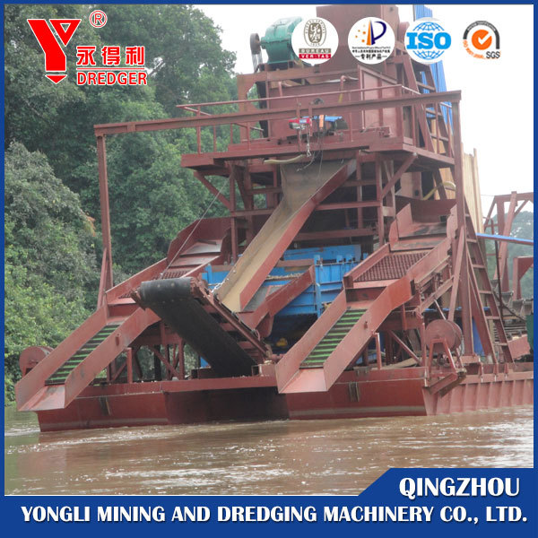 2017 New chain bucket gold dredger for sale