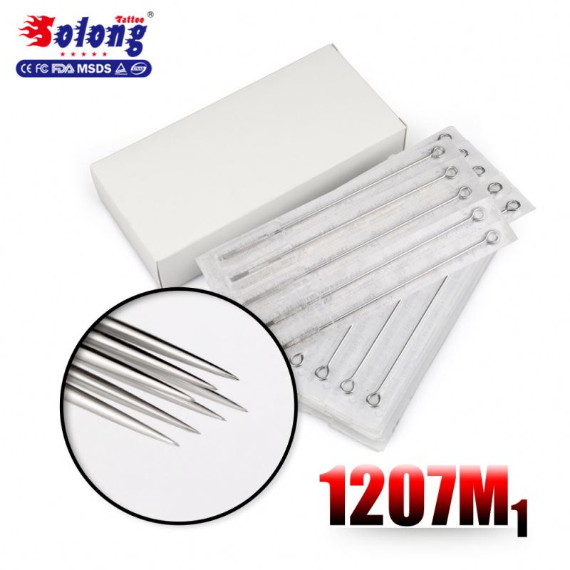 Solong Tattoo 316 Stainless Steel Disposable Tattoo Needles for Permanent make up Round Liner 1207M1