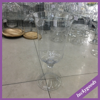 LHP032 popular selling small clear glass vases