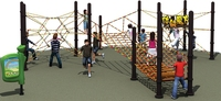 The children's outdoor rope bridge parent-child equipment