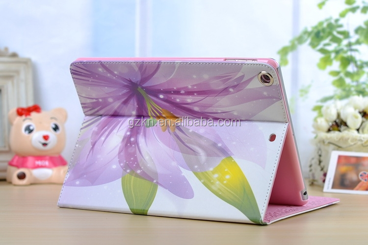 2015 newest design for iPad air 5th smart leather case with kickstand
