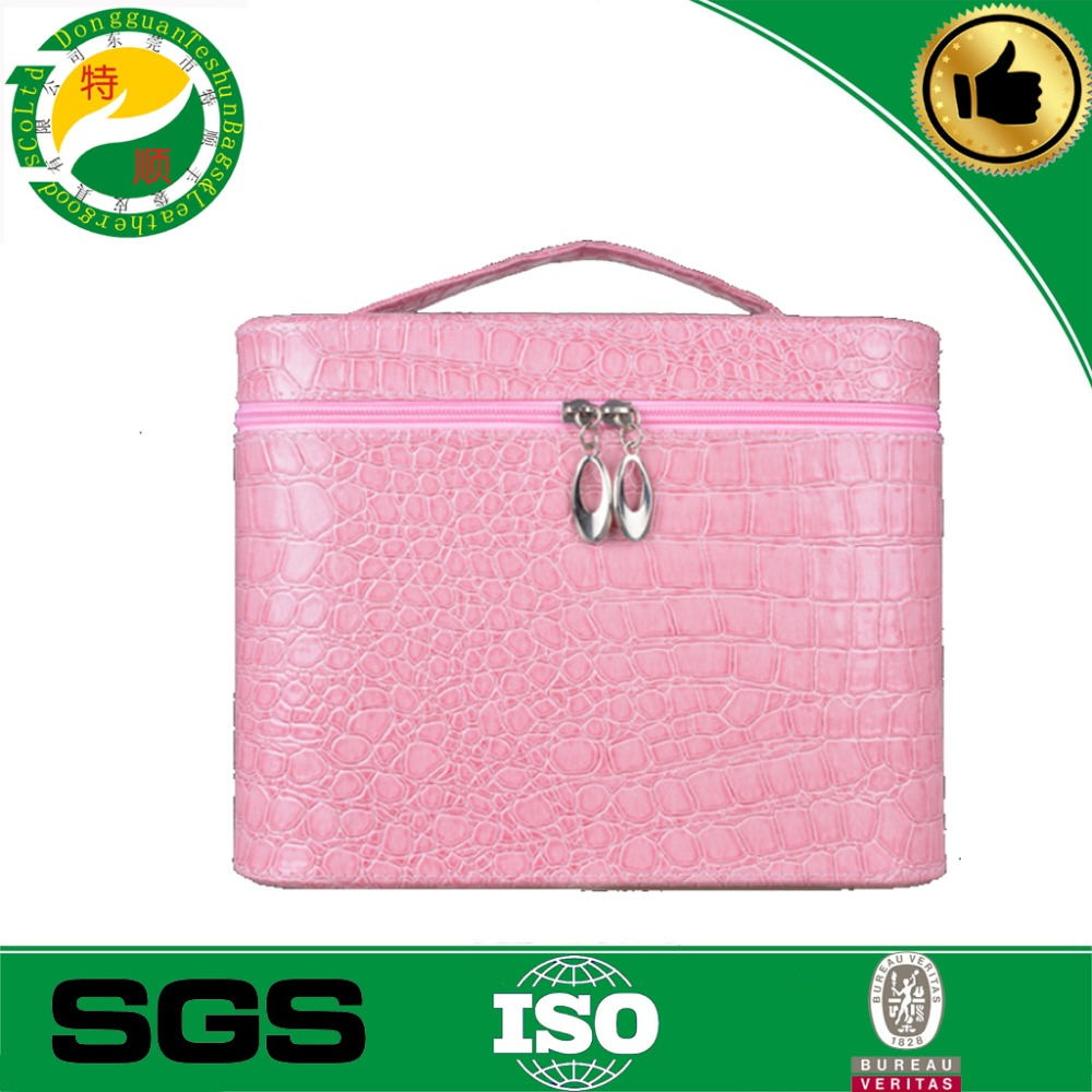 PU deressing case for women beauty <strong>product</strong> cosmetic case waterproof leather cosmetic bag