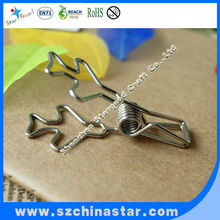 Unique beautiful cute boeing plane wire clips for promotion