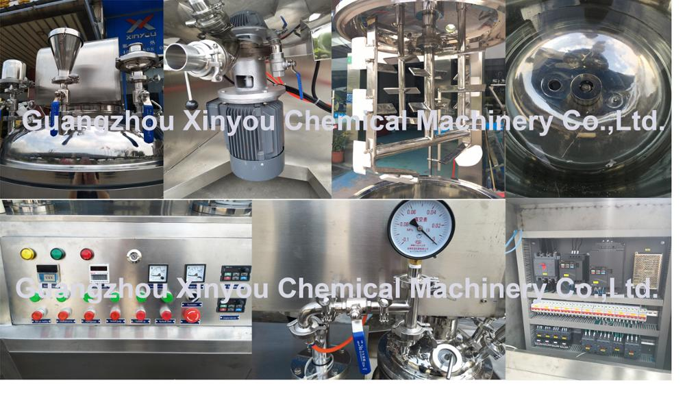 250L gel vacuum emulsifying mixer ,homogenizer mixing machine