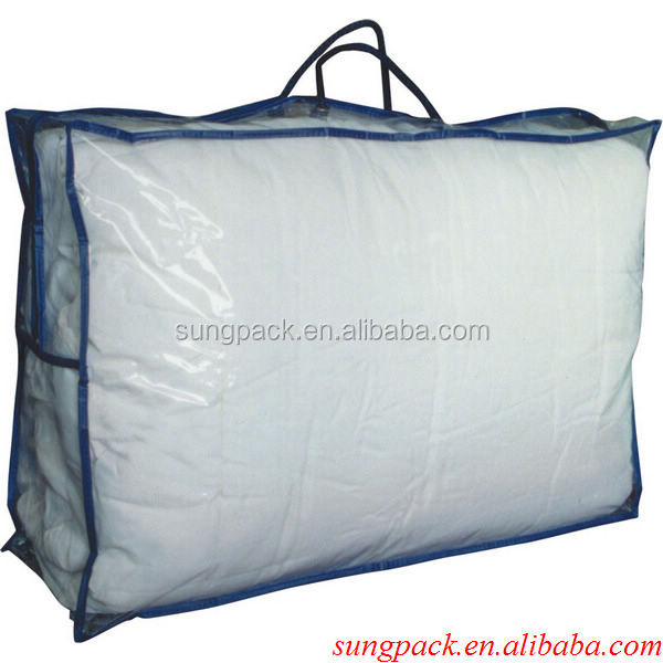 Wholesale Cheap Clear PVC Blanket Bag Plastic Quilt Bag Packaging Bags For Bed Sheets Garments