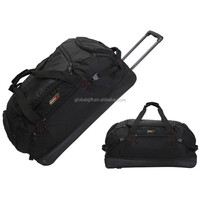 Expandable Polo Rolling Trolley Duffel Luggage Suitcase Wheeled Travel Bag With Multi Pockets