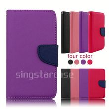 wallet leather flip cover case for huawei ascend p1 u9200