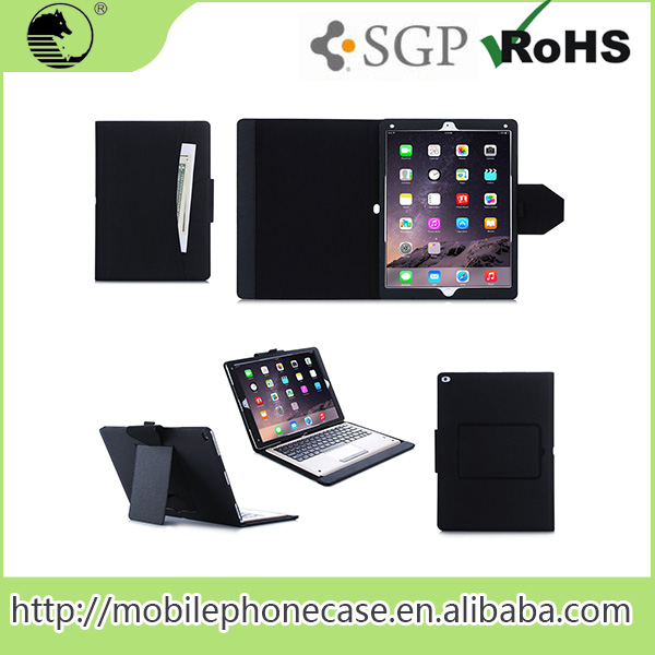 "2015 Fashion 12.9"" Black PU Tablet Pc Pouch Bag For ipad pro Tablet Case"