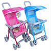 Four-wheel strollers children simple folding lightweight portable baby cart suspension summer