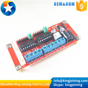 Factory price KJ112 4WD car module DC motor drive module L293D for smart car robot