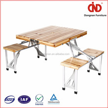 trade assurance china manufacturer portable wooden folding table with bench