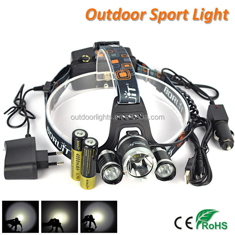 Hot Sale Boruit RJ-5000 XM-L L2 Outdoor LED Head Light Rechargeable Camping Headlamp