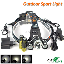 Hot Sale Boruit RJ-5000 XM-L L2 LED Head Light Rechargeable Camping Headlamp