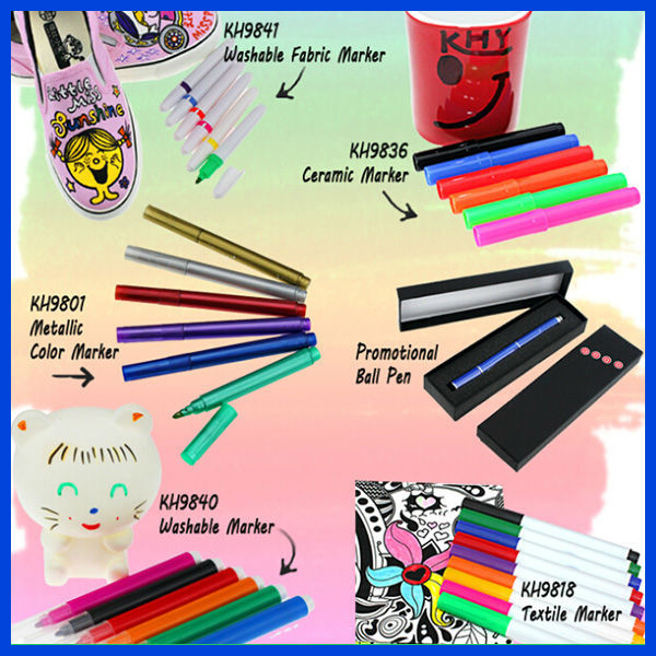 Promotional colorful painting permanent porcelain marker