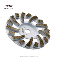 7inch Diamond 18T * 8mm segmented abrasive wheels for floor grinding