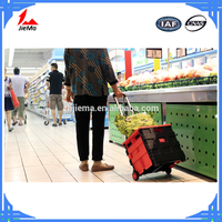 Hot selling shopping foldable trolley folding shopping cart