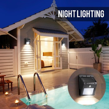 Solar motion Light Wall Mounted PIR Motion Sensor /Garden Yard Street Solar Lights