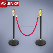 Jinke New Design Royal Top Velvet Rope Post Stanchion Queue Pole Barrier Stand