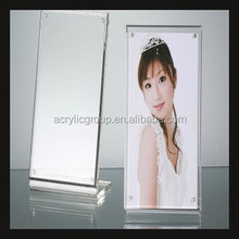 Acrylic Block Clear Modern Picture Photo Frame L Shaped