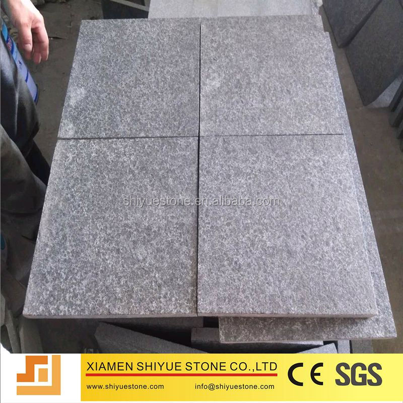 China Black Pearl Cheap Flamed G684 Black Granite Floor Tiles 60x60