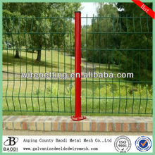 square mesh round top garden wire fence