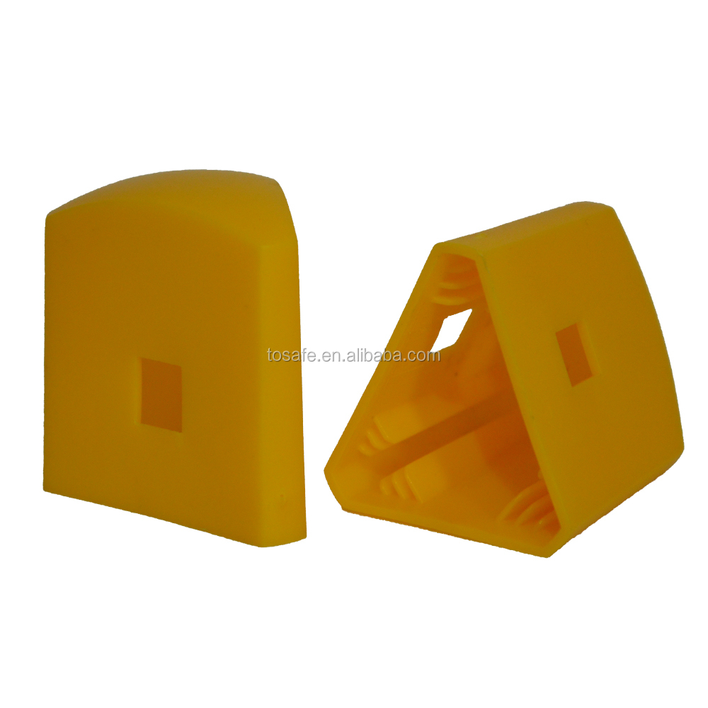 Yellow Triangular Star Picket Protective Caps