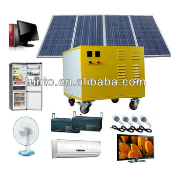600W Solar System Generator,solar electricity system for Home Lighting,air conditioner,tb,fridge