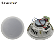 5 inch best quality white indoor ceiling speaker home theatre and pa system