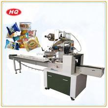 High Speed Automatic Horizontal Small Bread Cake Biscuit Cookies Food Flow Packing Machine Price