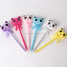 0.5mm Lovely Bear Cute Ballpen Logo Animation Ball pen for promotion
