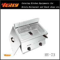 Electric/Gas Potato Chips Frying Machine for Fast Food Restaurant, Open Fryer HY-73