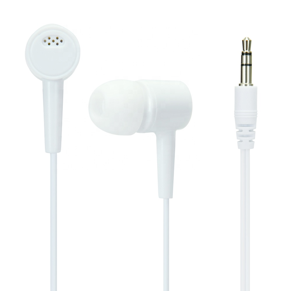 Hot sell China cheap airline portable subwoofer plastic in ear earphone