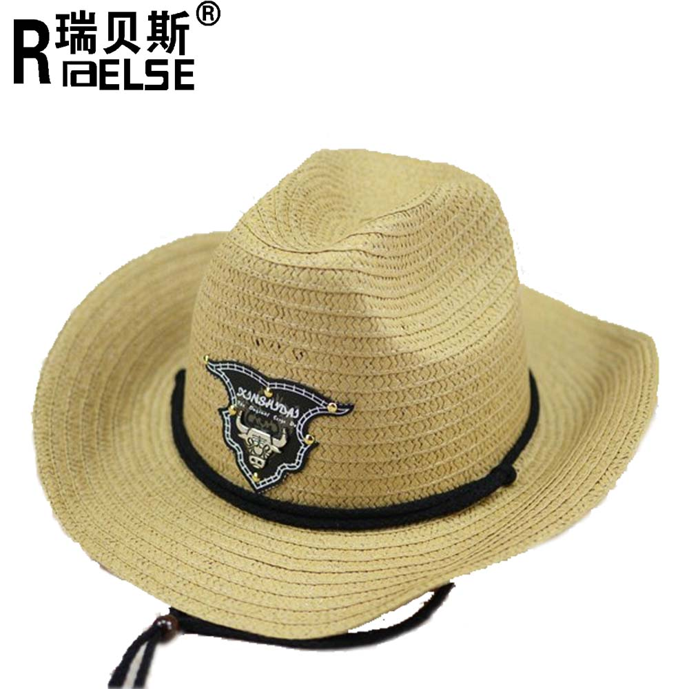 fashion cheap wholesale men hats paper cowboy straw hats for promotion straw hat