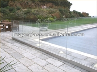 safety laminated glass pool fencing panel with CE