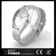 stainless steel mesh band metal watch