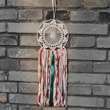 Bohemian colorful dream catcher house decoration, lace wedding decor dreamcatcher