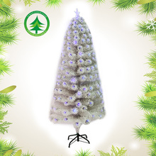 White Optic Fiber Christmas Tree With colors Light, Best Stand Artificial Xmas Tree