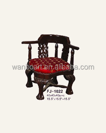 1022 handmade wood carved antique finished doll / child armchair - French -style chair