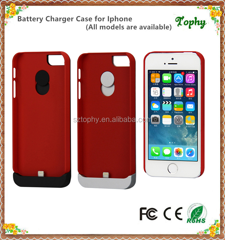 Stand 2200mAh External Backup Battery Charger Case Cover for iphone and samsung