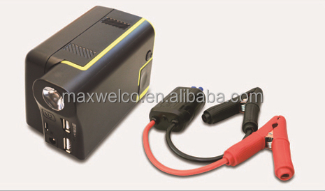Car Jump Starter with Power Bank (Replaceable Battery Pack) can charge laptop computer