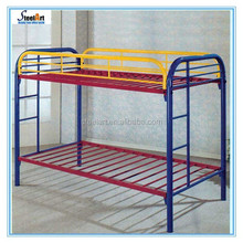 2015 Luoyang factory steel tube colorful bunk bed for kids/metal bed sale