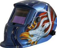 auto welding helmet with Blue skull flame