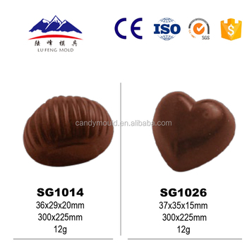Plastic 3D chocolate mold for baking candy mold