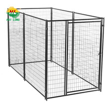 Dog Crate Heavy Duty Metal Cage Double Door Kennels for Dogs Tray Easy Install
