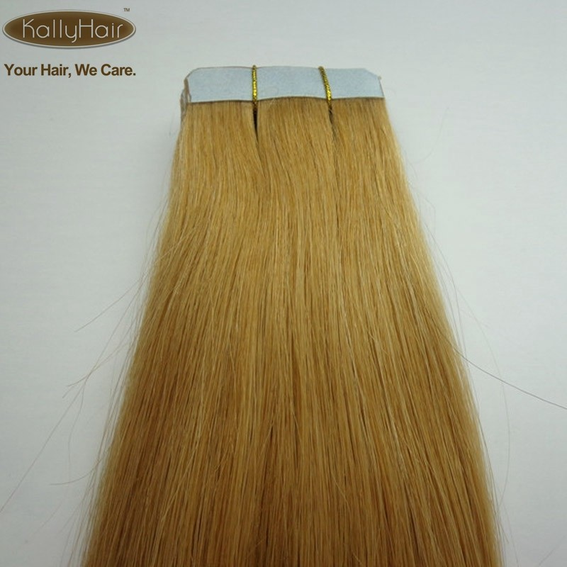 Factory wholesale fashion ombre virgin indian remy tape hair extension