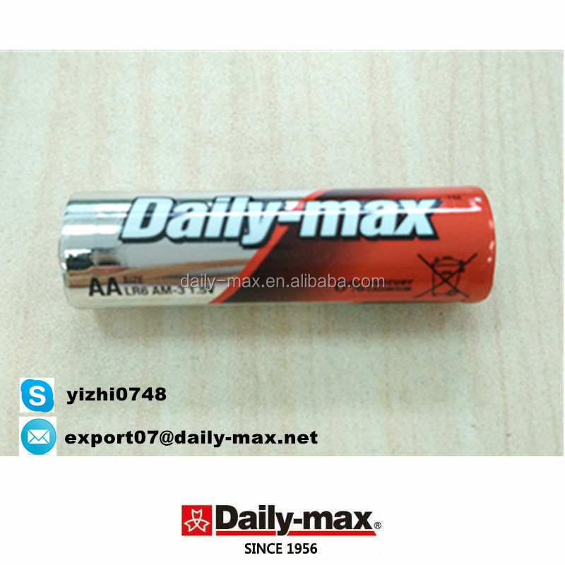 Super alkaline LR6 AA AM3 Zn/MnO2 Battery