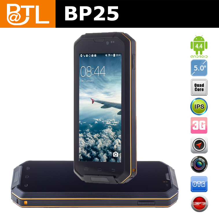 WDF774 BATL BP25 2MP+8MP GPS bar 5inch rugged phone for Russia market
